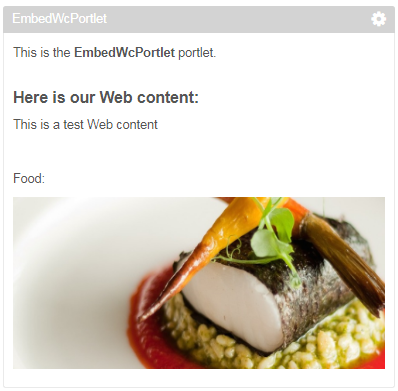 Embed webcontent into portlet