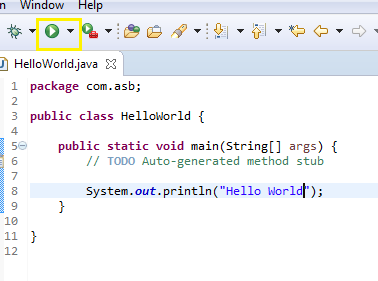 java hello world5