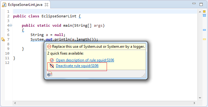 Fix Code Quality issues using SonarLint Eclipse IDE Plugin – ASB