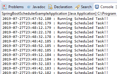 Spring Boot scheduler example