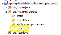 Load initial data to H2 database