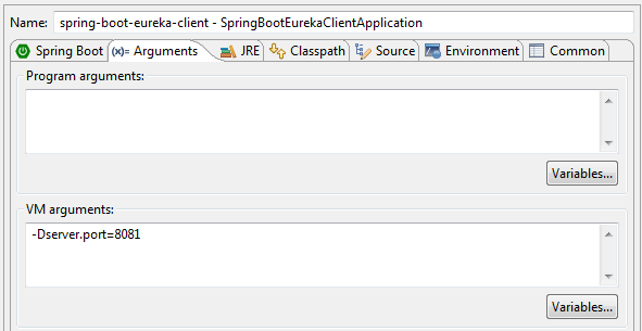 running spring boot application on different ports