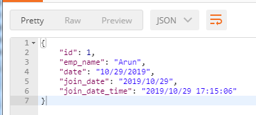 customized json format 1
