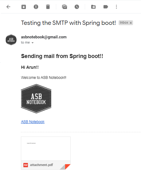 Spring boot email example