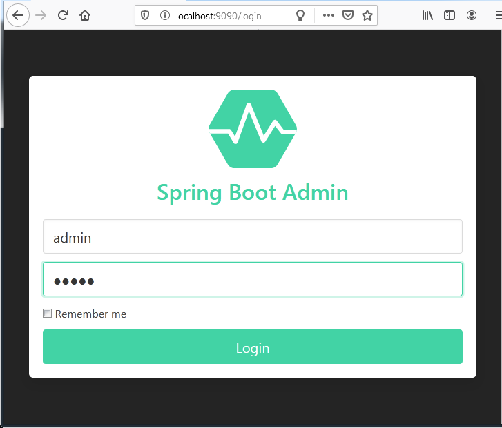 Spring boot admin example