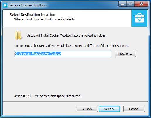 Docker tool box installation on windows